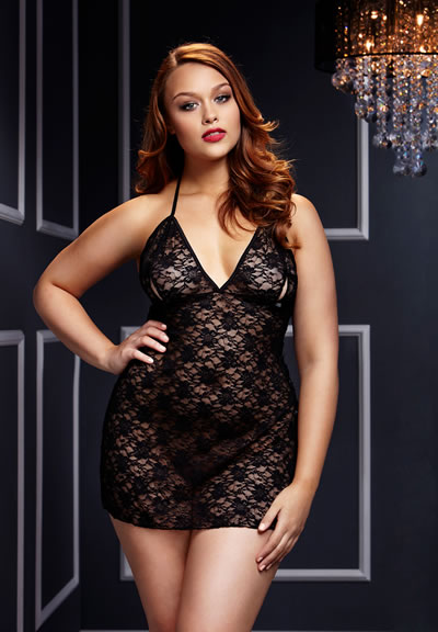 Black Lace Babydoll Queensize