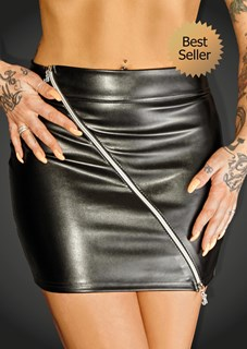 Noir RULER Eco Leather Miniskirt