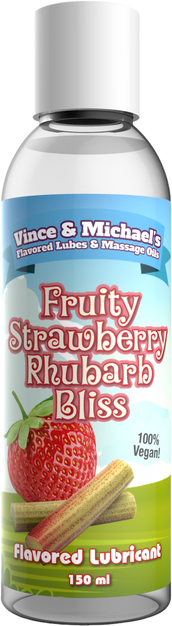 FLAVORED LUBRICANT - FRUITY STRAWBERRY RHUBARB BLISS