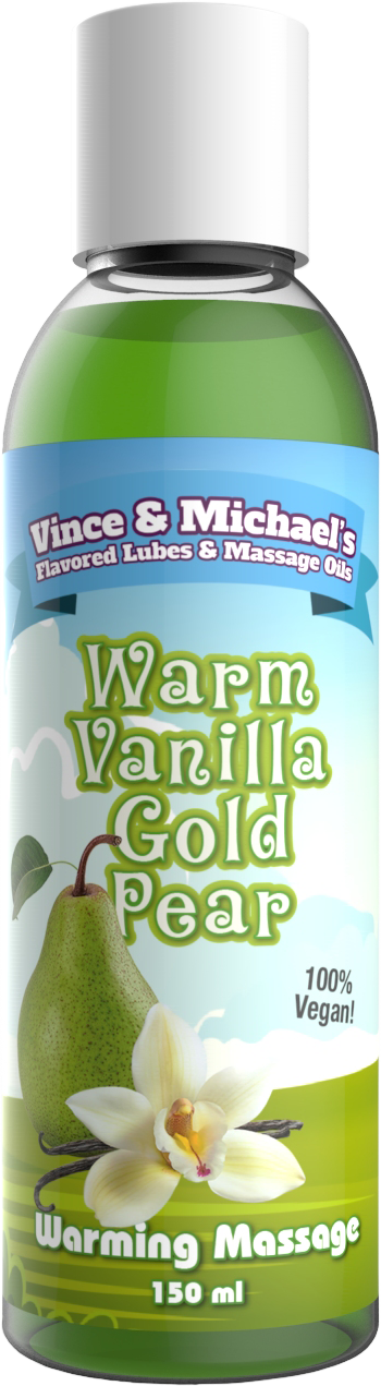 Warm Vanilla Gold Pear - Flavored Massage Oil